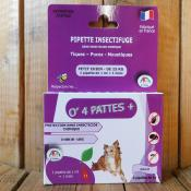 Anti puces, petits chiens, 4 pipettes