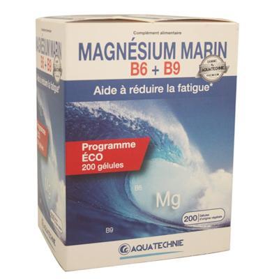 Magnésium marin B6 et B9 - 200 gélules - Biotechnie