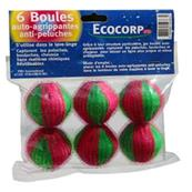 6 boules anti peluches
