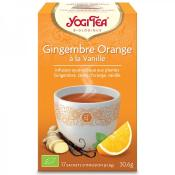 Yogi tea bio Gingembre orange vanille, 17 sachets