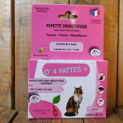 Anti-puces pour chats, 4 pipettes